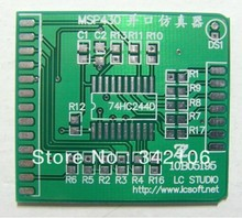 Free Shipping!!!   10pcs MSP430 parallel port download cable emulator PCB bare board