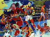 Free Shipping Impression Figures Man Boxing Match Canvas Prints Oil Painting Printed On Canvas Wall Art