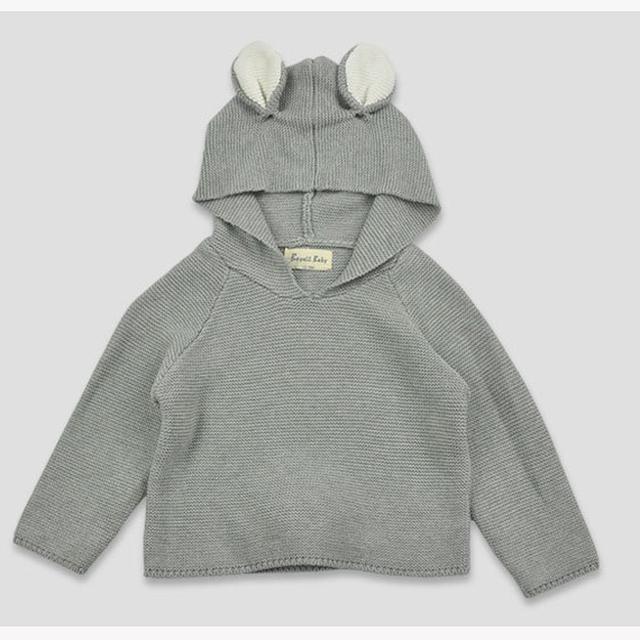 Los bebés Varones Suéteres Niñas Nuevo Estilo de Conejo Otoño 2016 Suéteres de Algodón 100% Niños Niñas Bebé Otoño Suéter de Punto Ropa de Niños