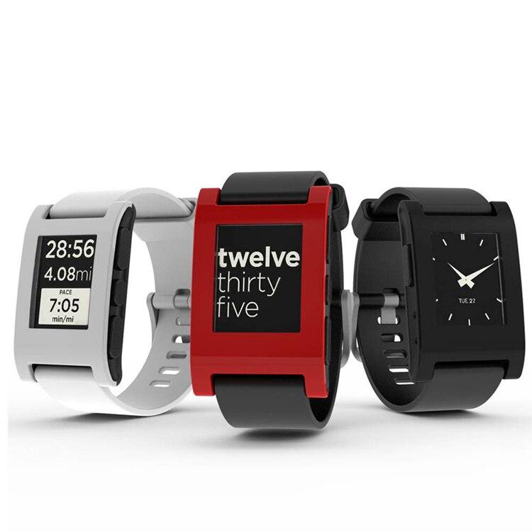 ZycBeautiful pour Pebble Classique E-Papier Smartwatch Multi-Fonctions Pebble Montre de Sport 5-ATM Étanche Montre Smart Watch