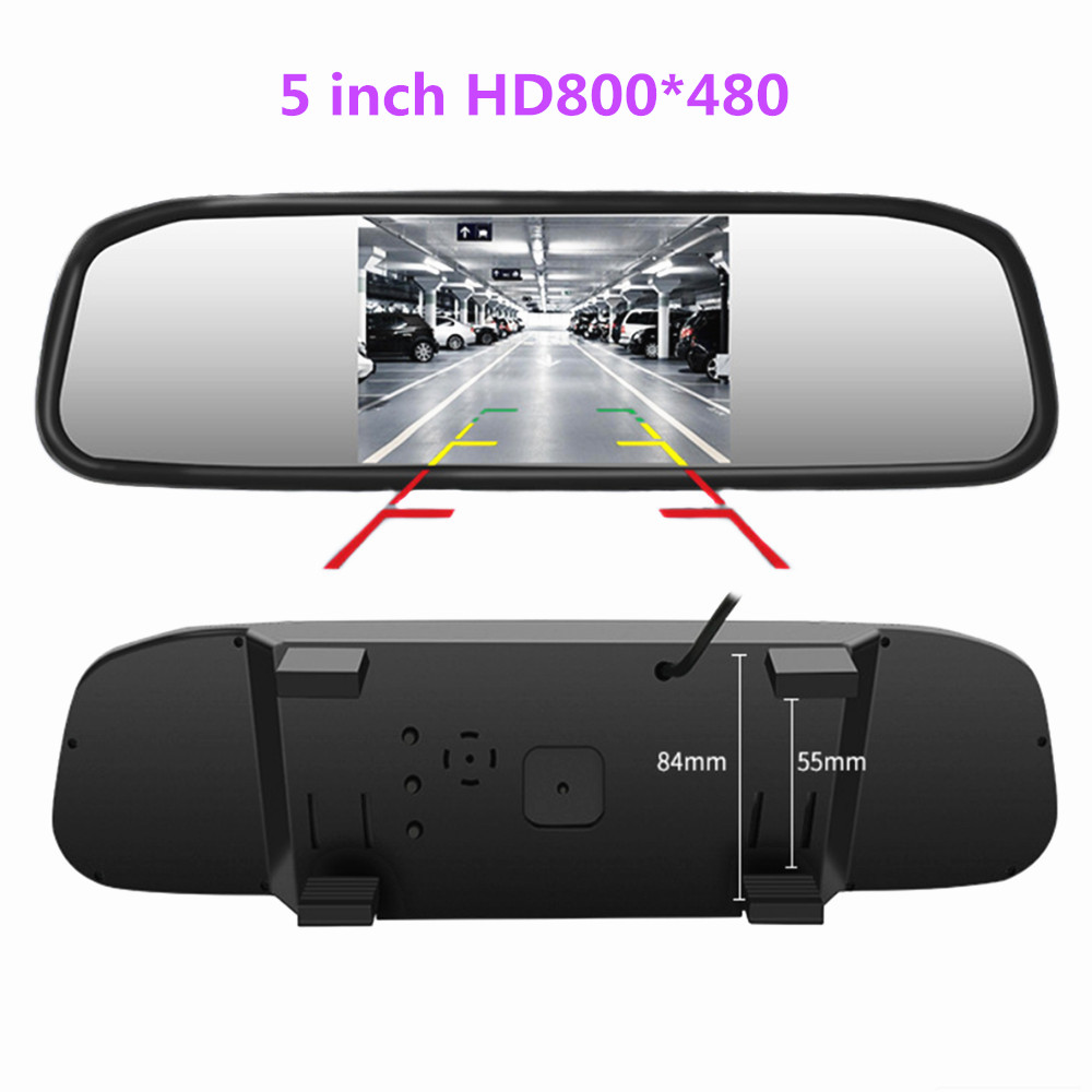 Mirror-Reversing Parking-Monitor Rearview-Camera 5inch 2-Video-Input Tft Lcd Hd800--480-Screen