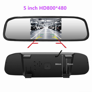 5 inch TFT LCD HD800*480 screen Car Monitor Mirror Reversing Parking Monitor with 2 video input, Rearview camera optional