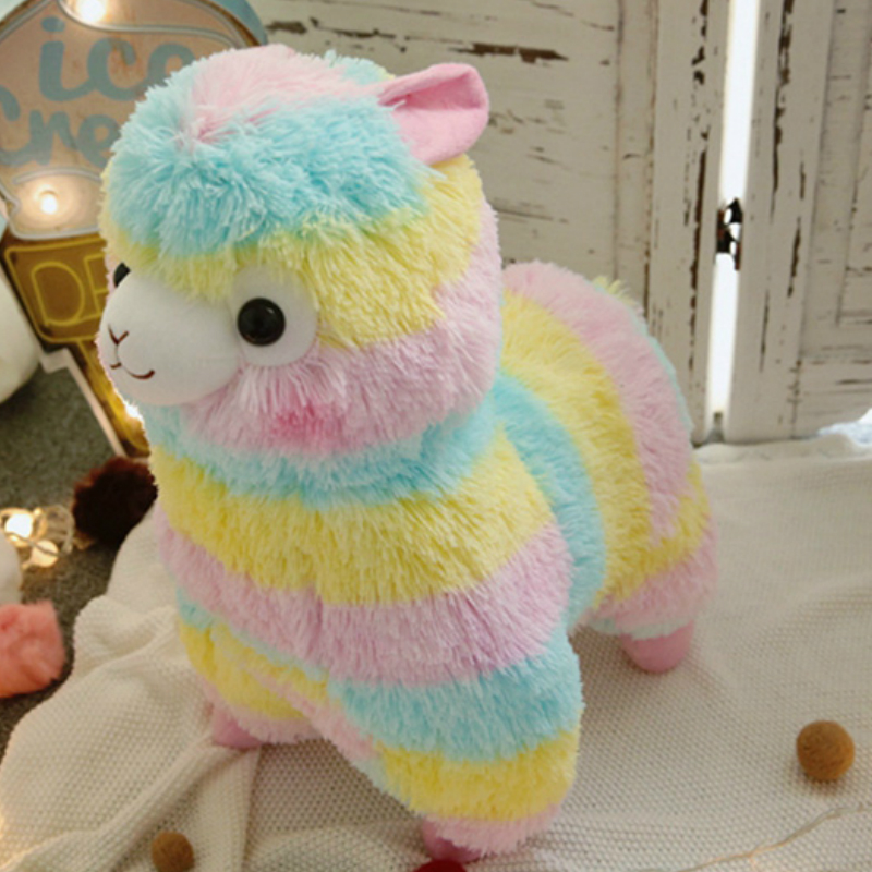 RAINBOW Alpaca Plush Toy 3 Size Dolls for Children High Quality Soft Cotton Baby Brinquedos Animals for Gift