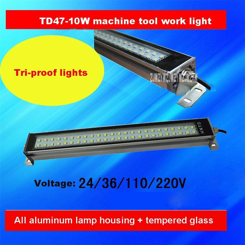10PCS/LOT Machine Tool Work Light TD47-10W Workshop Plant Lighting Waterproof Explosion-proof Tri-Proof Light 24V/36V/110V/220V
