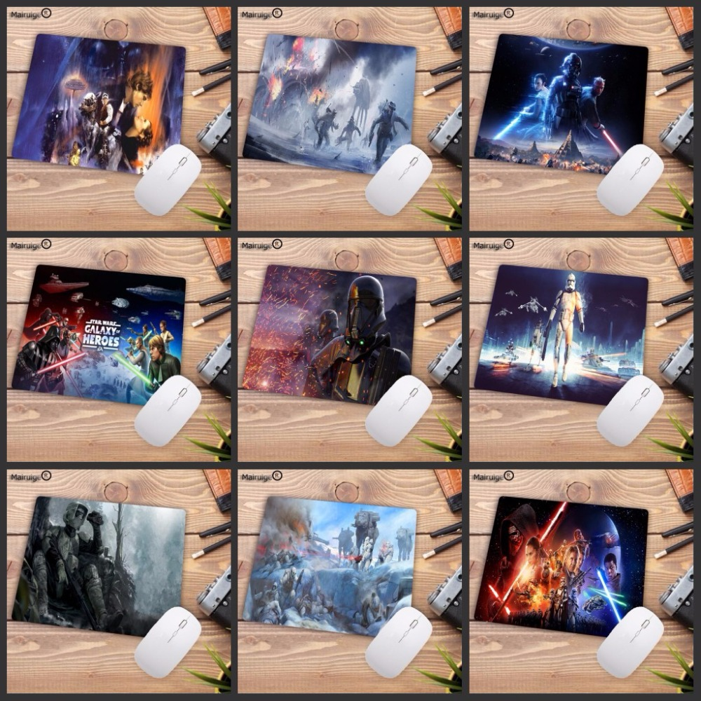 Mairuige Big promotion Star Wars mouse pad gamer play mats Small SIZE Rubber Game Mouse Pad for Game Playing Love 22X18CM image