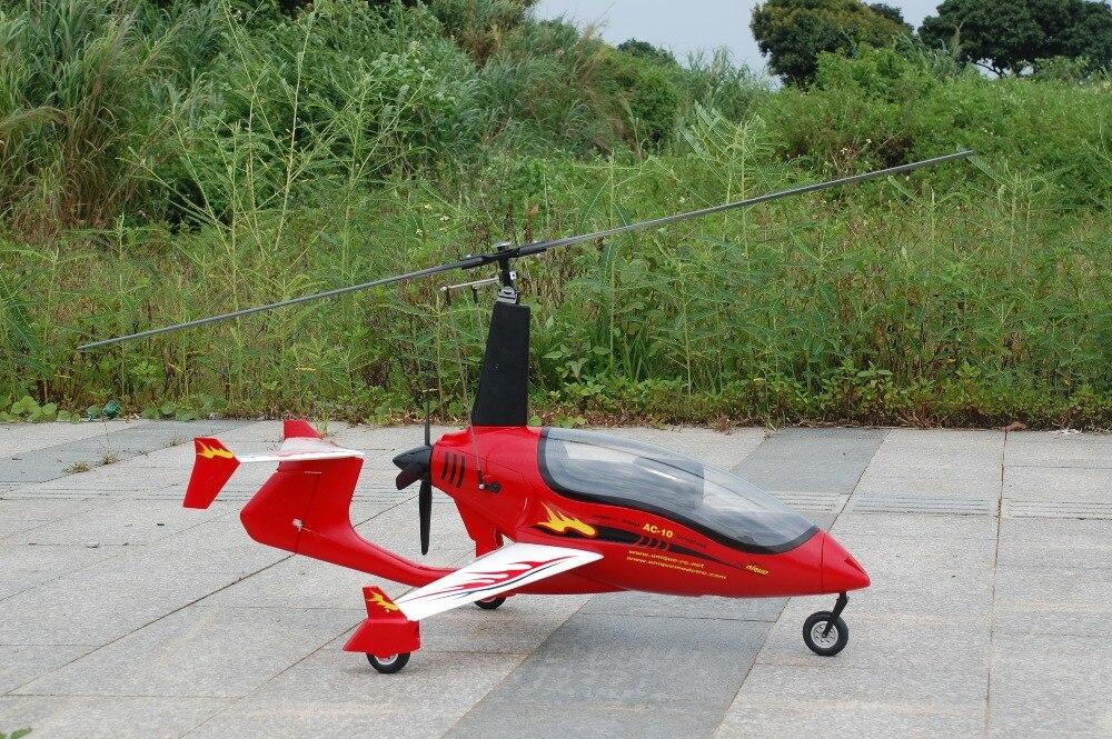 Oyuncaklar ve Hobi Ürünleri'ten RC Helikopterler'de Benzersiz Model AC10 RC Gyrocopter PNP'da  Grup 3