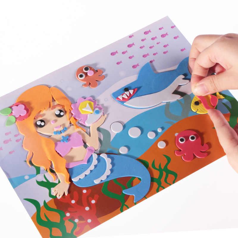 EVA 3D наклейка s 3D наклеивание бумаги дети материалы для художественного творчества «сделай сам» Дети DIY игрушки детский сад головоломка игрушка стерео наклейка