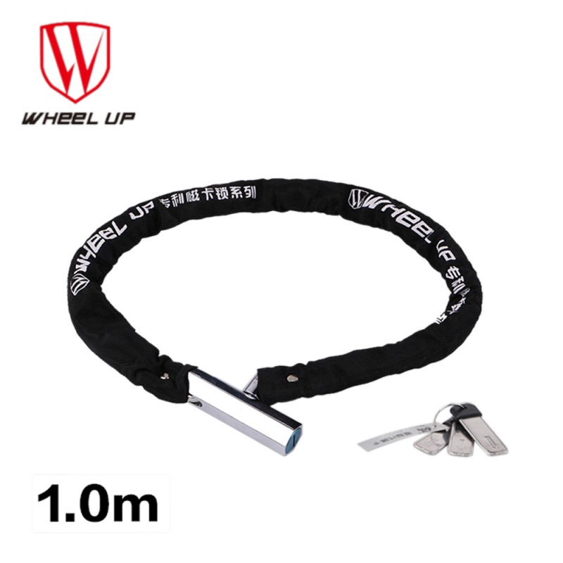Bike Lock Anti-Theft Magnetic Card Key Steel Chain Bicycle Lock - Cycling - Photo 1