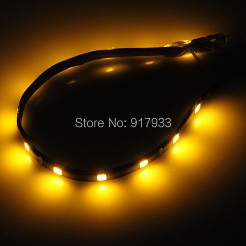100 X30CM led strip 5050 patch car LED strip chassis soft article lamp LED traffic light wheel light White red blue yellow green