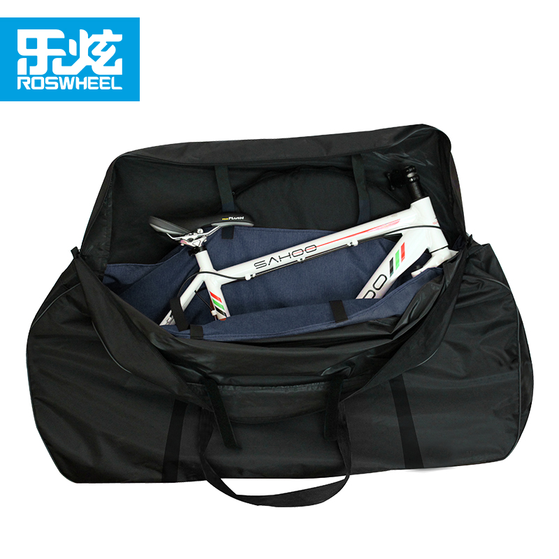 Roswheel 27.5 bike carrier bag bicycle carry bag package for mtb bike road bike with 2 pcs wheel bags accessories waterproof roswheel attack series waterproof bicycle bike bag accessories saddle bag cycling front frame bag 121370 top quality
