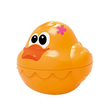 4Pieces Cute Rainbow Stacking & Nesting Ducks Baby Swimming Water Toys Soft Rubber Float Squeeze Bathing Toy For Baby a503(China)