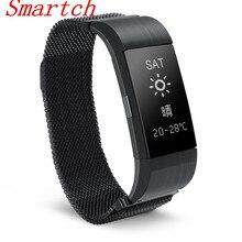 Smartch S18 умный Браслет интеллектуальная крови Давление сердечного ритма вызова/SMS напоминание Bluetooth для IOS Android воды resistan