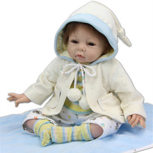 Fashion Lovely 22 Inches 55 cm Big Size Silicone Reborn Baby Boy Dolls For Child Toys Cheap Lifelike Reborn Babies For Sale