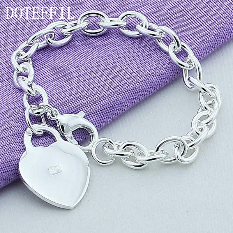 Luksusowa 925 srebrna kolorowa bransoletka s serce urok bransoletka wysokiej jakości mężczyzna kobiet dobrze moda srebrna kolorowa bransoletka świąteczne prezenty