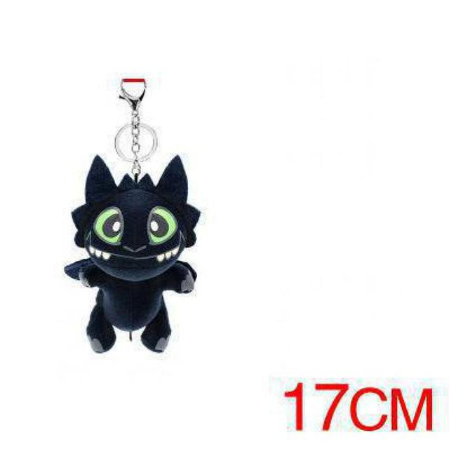 1 PC Dragon 2 Figure Toys Hiccup Toothless Night Fury Dragon Plush Soft Stuffed Toy Doll with Keyring