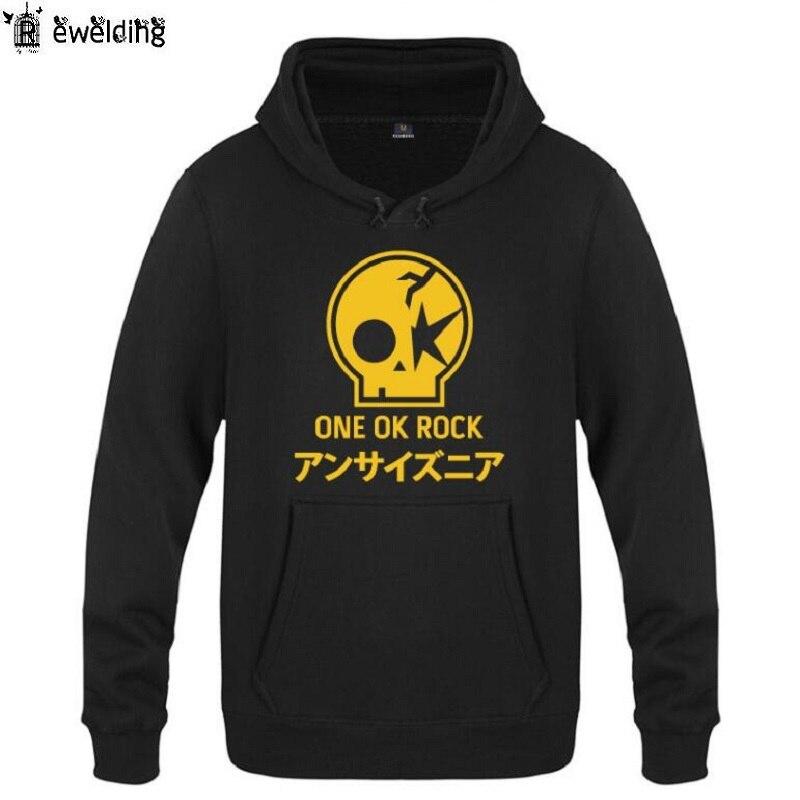 Mens Hoodies Music One Ok Rock Printed Hoodie Men Hip Hop Fleece Long Sleeve Mans Sweatshirt Skate Pullover Tracksuit Coat New