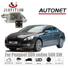 Câmera de Visão Traseira Para Peugeot 508 sedan 508 SW JIAYITIAN 508 RXH 2011 ~ 2018 da Visão Nocturna do CCD/Câmera de segurança da placa câmera