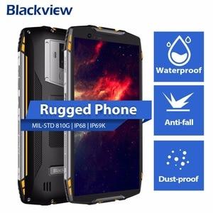 "Image 3 - البلاكفيو BV6800 برو 5.7 ""الهاتف الذكي IP68 مقاوم للماء MT6750T ثماني النواة 4GB + 64GB 6580mAh بطارية لاسلكية تهمة NFC هاتف محمول"