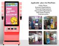 42 Inch LCD interactive outdoor big screen HD advertising display color Photo Printing Electronic Consumer Machine