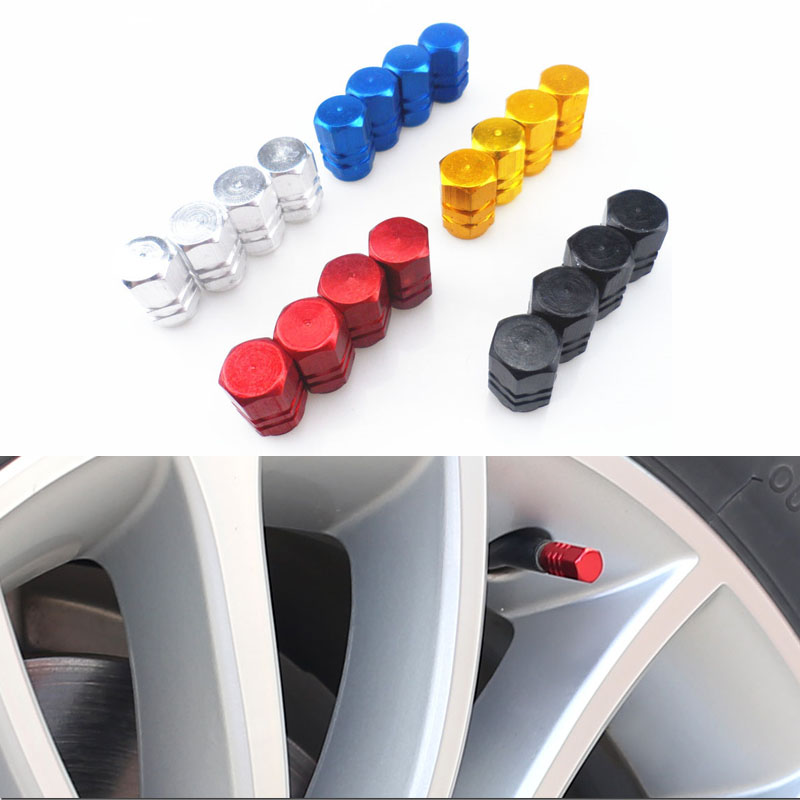 High Quality New 4pcs/pack Theftproof Aluminum Car Wheel Tires Valves Tyre Stem Air <font><b>Caps</b></font> Airtight Cover for Volkswagen <font><b>vw</b></font> POLO image