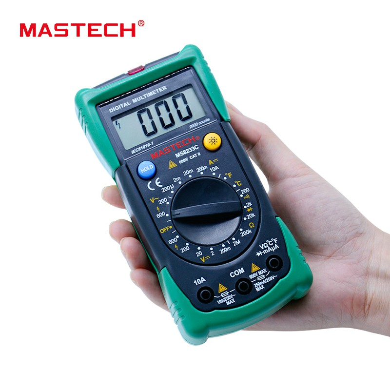 Digital Multimeter MASTECH MS8233C non contact ACDC Voltage Current Capacitance Frequency Temperature Tester multimeter detector