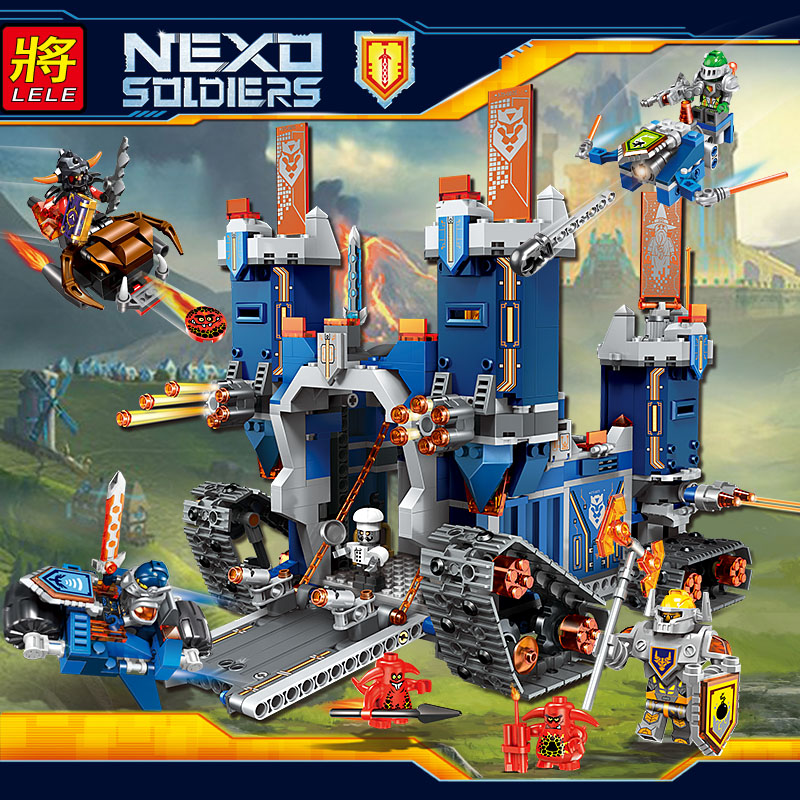 LELE Mobile Castle Educational Building Blocks Toys For Children Gifts Hero Nexo Knight Weapon Compatible With Legoe enlighten castle educational building blocks toys for children kids gifts horse knight king compatible with legoe