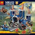 Lele castillo minifigure building blocks juguetes educativos para niños de regalos móvil hero nexo caballero arma compatible con legoe