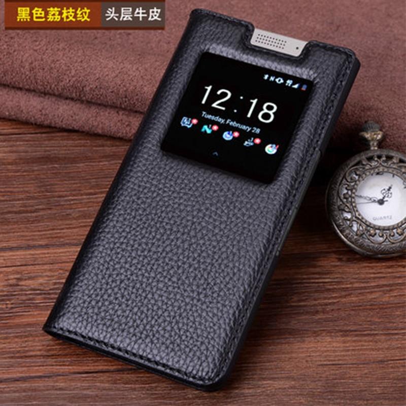 Étui en cuir véritable pour Blackberry KEYone étui en cuir véritable Crocodile Grain Flip sac de couverture de téléphone pour Black Berry DTEK70 4.5 - 3