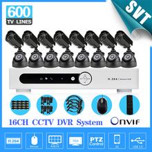CCTV 16 Channel IR outdoor waterproof video Surveillance Camera security Kit Home cctv HDMI 1080P dvr Recorder System SK-223