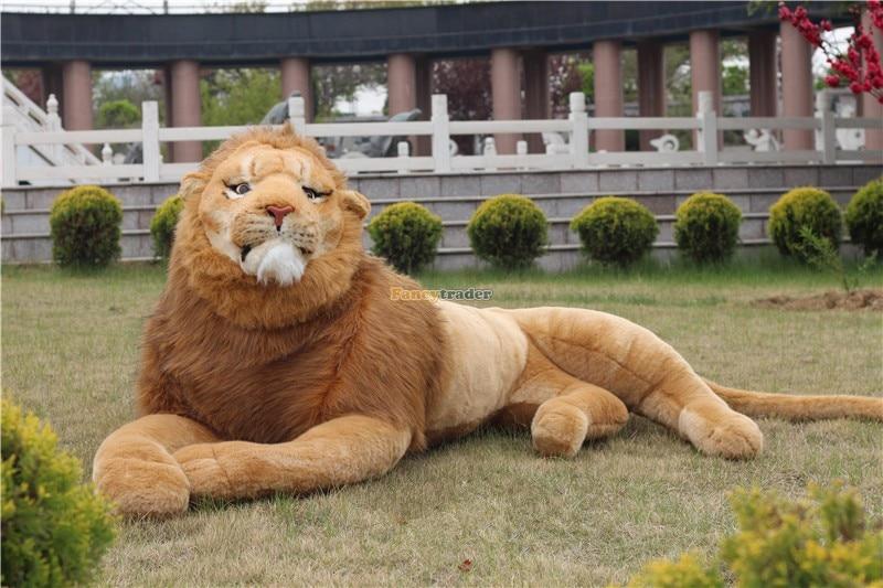 Fancytrader Vivid Real Lion! Life like Lion Toy 87'' 220cm Rare in World! Huge Giant Plush Stuffed Lion King Simba FT90304 fancytrader vivid real lion life like lion toy 87 220cm rare in world huge giant plush stuffed lion king simba ft90304
