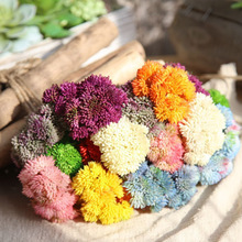 1pcs Hot Selling Soft glue 3 Head rubber rice fruit hydrangea fake flower feel succulent wholesale