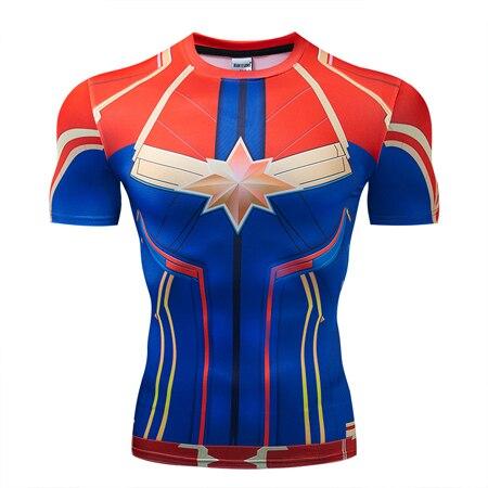 Мстители эндгейм футболка Квантовая царство компрессионная с коротким рукавом для мужчин тренажерный зал Спорт Фитнес окрашенные футболки спортивная одежда для мужчин - Цвет: DX-053