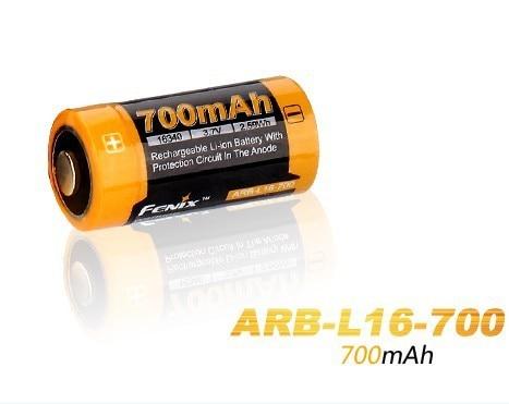 4 Pz/lotto Fenix ARB-L16-700 3.6 V 16340 700 mAh Batteria Ricaricabile Li-Ion Con Circuito di Protezione