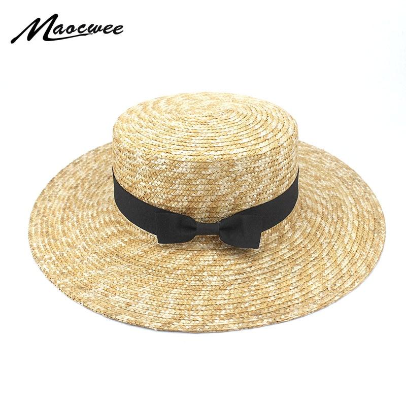 Sun Hat Beach Hat Wide Brim Straw Hat Flat Top Sun Hat