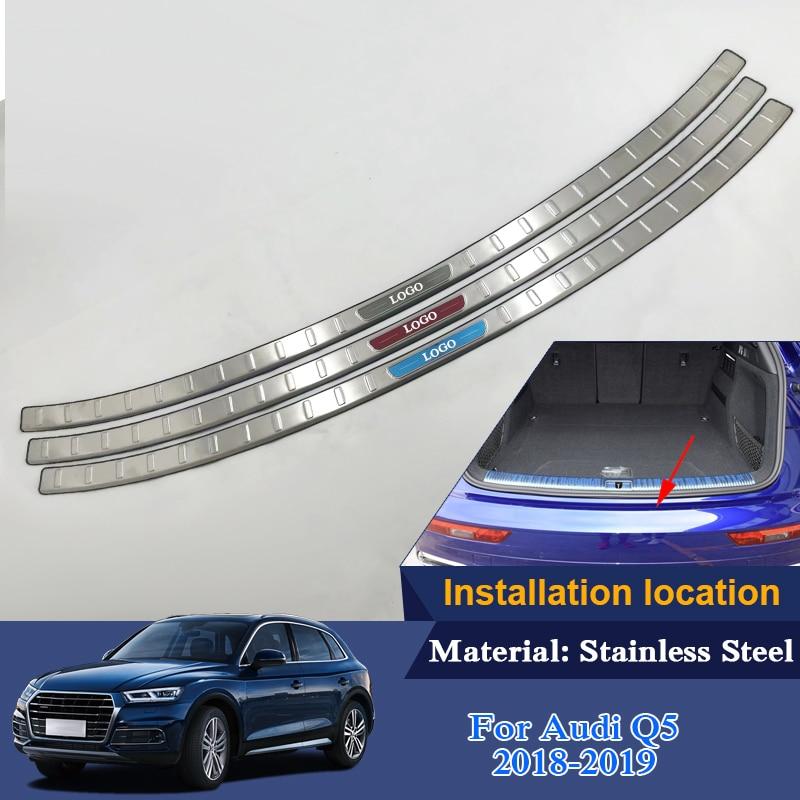 QCBXYYXH Trunk Rubber Rear Guard Bumper Protector Trim Cover Rear Bumper Protector Sill Car For Audi Q5 Q5L 2018 2019 External цены