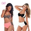 Loss Promotion Sexy Women Patchwork Halter High Waist Bikini Set 2017 Swimwear Female Brazilian Bandage Swimsuit Bathing Suit