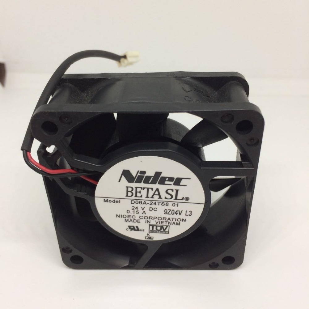 US $9 9 |Original Nidec D06A 24TS801 6025 60 * 60 * 25MM double ball ABB  inverter cooling fan-in Fans & Cooling from Computer & Office on