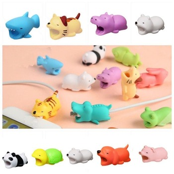 Cute Animal Cartoon for Xiaomi Redmi Mix 2 2s Case Cable Winder Saver USB Data Biters Protector for Redmi 4X 4A 5 5A 6A 6 Pro S2 protectores de cargador iphone
