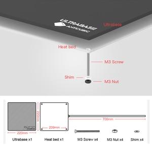 Image 4 - Anycubic Ultrabase 3D yazıcı platformu isıtmalı yatak inşa yüzey cam plaka 240x220x6mm ile uyumlu MK2 MK3 sıcak yatak