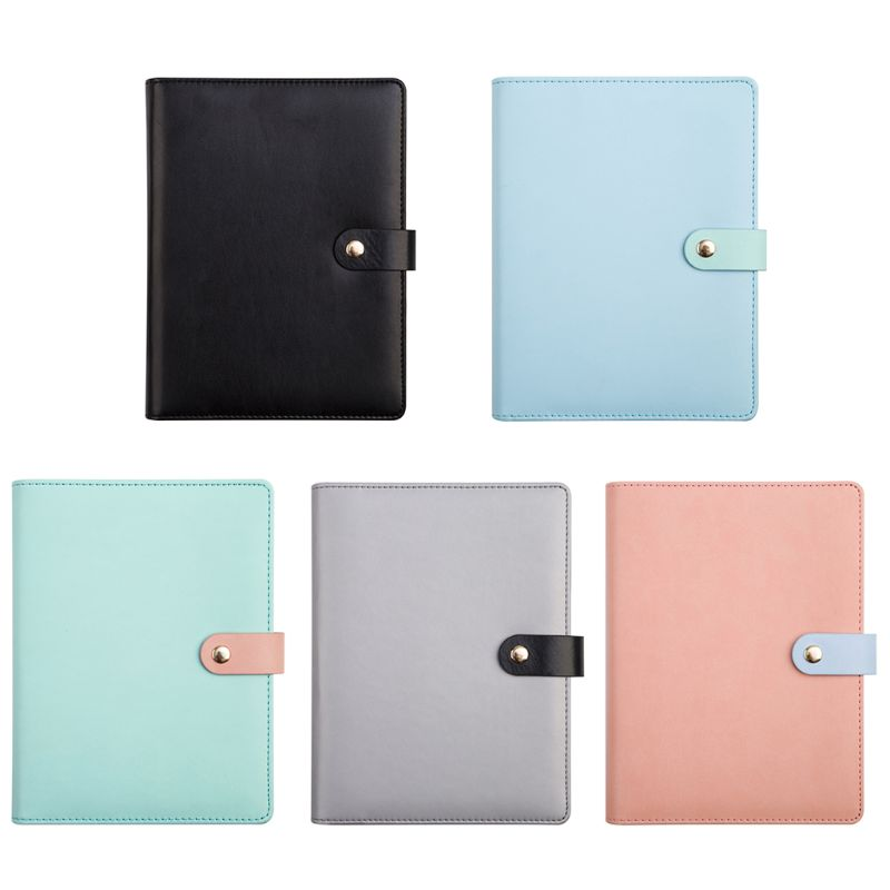A5 Notebook Binder Spiral Ring Faux Leather Agenda Daily Monthly Planner Notepad Office School Supplies Notepad Stationery fromthenon cat go home series thick notebook kawaii notepad binder dialy memos daily planner organizer stationery school supply