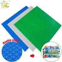 Small Bricks Building Block DIY Baseplates 32 32 Dots Base Plate 25 25cm Two Sides Compatible