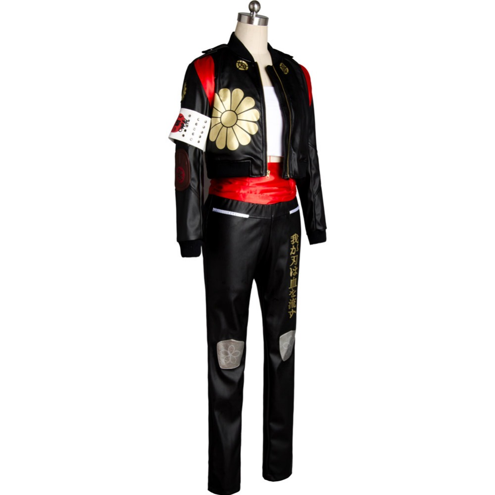 Suicide Squad Adult Halloween Cosplay Costume Katana Dress Gown Uniform Suit Set