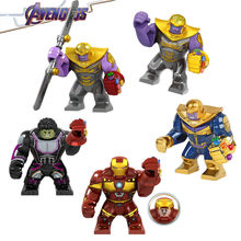 2019 Marvel Avengers Endgame Super Heroes Iron Man Thanos Hulk Venom Figures Building Blocks Bricks Toys For Children Gift(China)