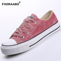 FOORAABO 2018 Women S Vulcanize Shoes Spring Girls Female Velvet Sneakers Shoes Breathable Casual Students Walking