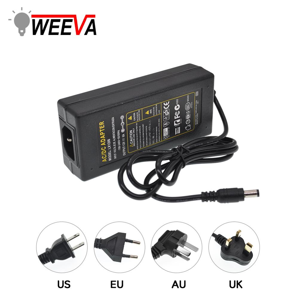 Lighting Power Transformer Adapter Charger 1A 2A 3A 4A <font><b>5A</b></font> 6A 8A Power SupplyAC110V 220V to <font><b>DC</b></font> 5V 12V 24V EU US AU UK Plug image