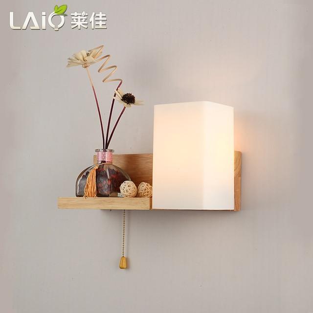Moderne houten wandlamp led badkamer wandlamp ikea houten hal houten ...