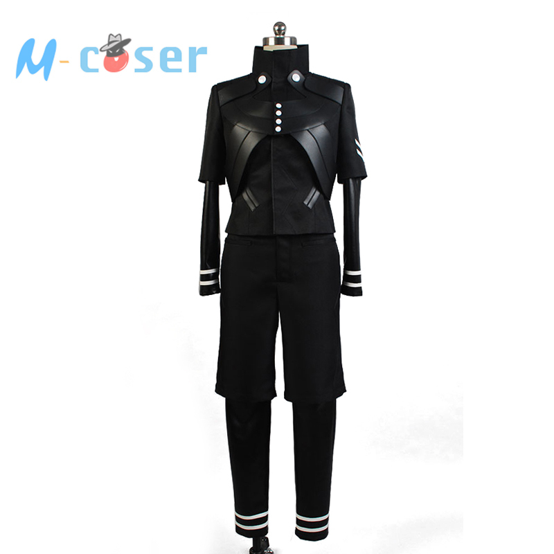 Tokyo Ghoul Kaneki Ken Black Pleather Jumpsuit Battle Uniform Anime Cosplay Costume Men Full set
