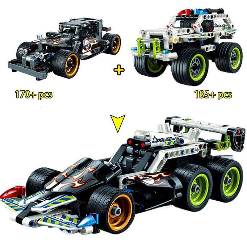 Decool-Compatible-Legoed-technic-trucks-pull-back-racer-car-moto-sets-kit-Building-Blocks-F1-DIY