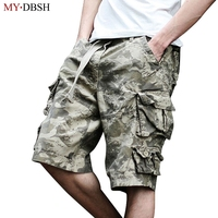 New Arrival 2018 Fashion Beach Shorts Men Casual Camo Camouflage Shorts Military Short Pants Male Cargo Overalls Free Shipping