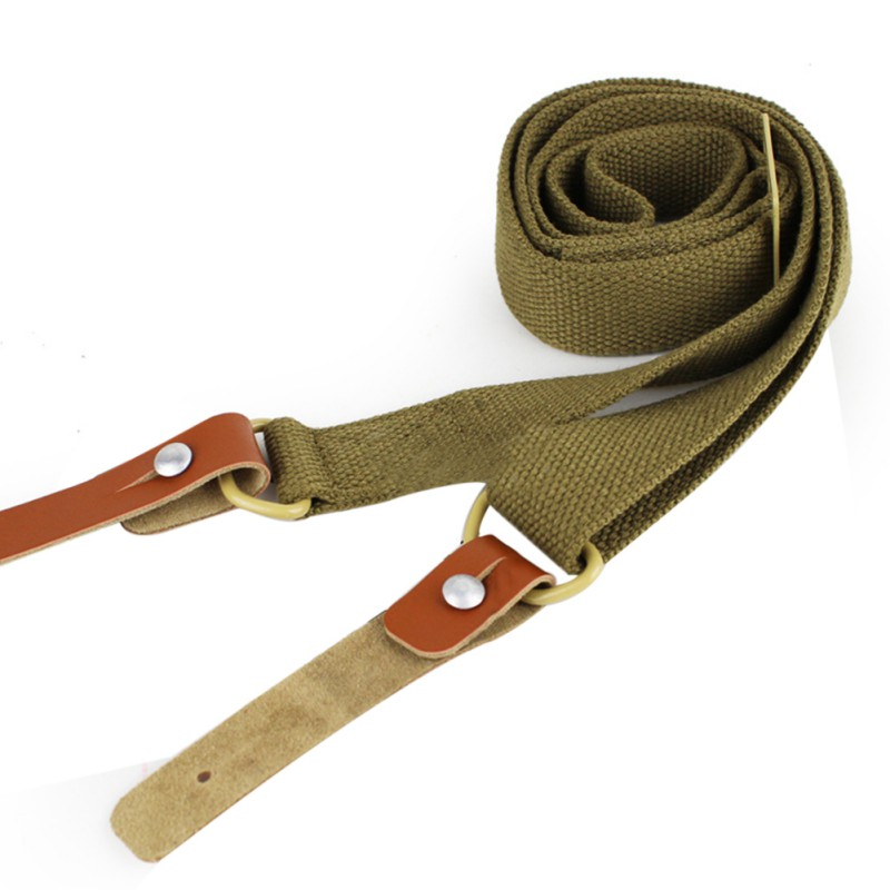 3 Colors Original Gun Sling Airsoft Military Hunting Adjustable Leather Tactical AK Rifle Strap Survival Belt